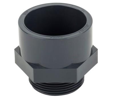 Муфта переходная клеевое соединение /наружная резьба ПВХ Aquaviva 50mm