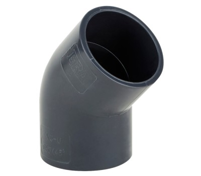 Отвод ПВХ Aquaviva  50mm/45°